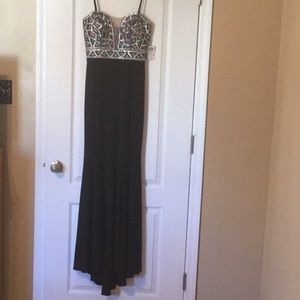 Prom/Party Dress- Black/Nude/Silver Sequins